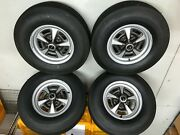 1969 Gto Judge Original Date Coated Wheels With New Firestone Tires Set Of 4
