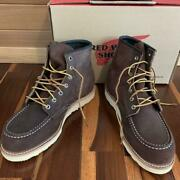 New Red Wing 8878 0 Mens Boots 26.5cm Us8.5 E Wise Dark Brown Suede Mocha Cintu