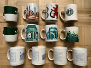 Lot 12 Excellent Starbucks City Coffee Mugs 2006-2018 Barista Collector Series'