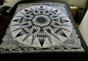 Amish Handmade Quilt For Sale Blazing Star New Amish Quilt King Or Queen Quilt