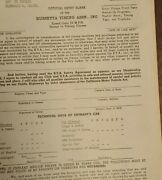 Rare 1950and039s 1960and039s Russetta Timing Association Nos Entry Blank El Mirage Scta