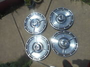 Set Of 4 1964 Chevy Ss Wheel Covers Hubcaps Hub Caps Vintage 14 Spinner