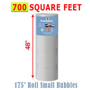 Small Bubble Wrap 175' X 48 Wide 3/16 Bubbles, Perforated 12, 700 Sf Roll