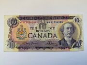 Bank Of Canada 1971 10 Canada Replacement Note Va2336094 Lawson/bouey