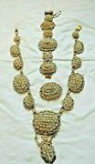 Antique Pre 1789 Georgian Seed Pearl And 18k Gold Filigree Parure With Provenance