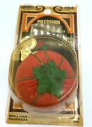 Vintage Tomato Pin Cushion With Strawberry New Old Stock