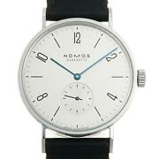 Nomos Tangomat Tn1e1w2 601 Menand039s Stainless Steel Silver Dial At [e0624]