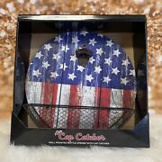 American Flag Bottle Opener Wall Mounted Cap Catcher Free Shipping