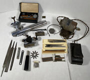 Vintage Watchmaker Lathe Peerless Marshall Matching Numbers With Motor Works