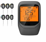 Outdoor Meat Thermometer Large Lcd Backlight Foods Grill With Timer Mode Smoker