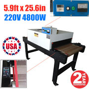 5.9ft X 25.6in Belt Small T Shirt Smart Screen Printing Conveyor Tunnel Dryer