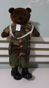 Bear Forces Of America Teddy Bear Plush Toy Soft Toy Army With Dog Tags 55cm