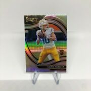 2020-21 Select Justin Herbert Field Level Silver Prizm Chargers Rc/rookie Rare