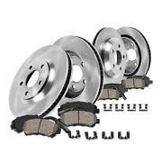 Front+rear Brake Rotors And Ceramic Pads For 11-16 Bmw 528i 12-16 Bmw 528i Xdrive