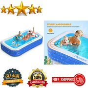 Blow Up Rectangular Pools Above Ground For Adults And Kiddie, Outdoor Family Pool