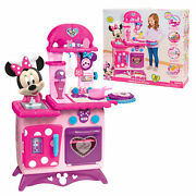 Kids Kitchen Play Set Pretend Cooking Toys Minnie Mouse Toddler Girls Gift Pink