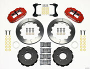 Wilwood Fit Narrow Superlite 6r Front Hat Kit 12.88in Red 2006-up Civic / Crz