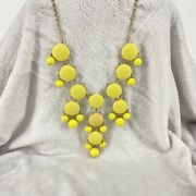 J. Crew Bubble Smooth Necklace Bright Yellow Statement Xl Iconic