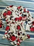 Women Sexy Deep V-neck Long Sleeve Floral Printed Casual Rompers Jumpsuits Szl