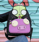 Nickelodeon Loungefly Invader Zim Gir Pig Doom Mini Backpack Sold Out - Nwt