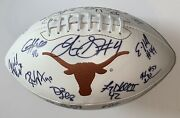 2005 Texas Longhorns Team Signed Football National Champions Vince Young Beckett