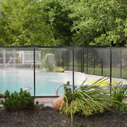 Swimming Pool Fence 4and039 X 12ft Water Safety Barrier Removal Able Above In-ground