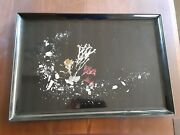 Large Seascape Tray By Couroc Of Monterey, Ca A Treasured Mcm Brand Circa 1960s
