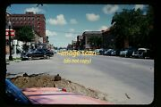 Cars In Downtown Huron South Dakota In Mid 1950and039s Kodachrome Slide H2b