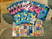 Large Lot Of Blueand039s Clues Gift Bags And Wrapping Paper - Nickelodeon - 2000