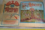 Marx Sears Heritage Battle Of The Alamo Playset And Box Sons Of Liberty Vintage