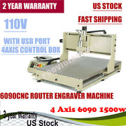 Usb 1.5kw 4 Axis Cnc 6090 Router Engraver Metal Mill Drill Machine 3d Us Stock