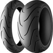 120/70zr 18, 180/55zr 17 Michelin Scorcher 11 Front And Rear Tire Kit - 2 Tires