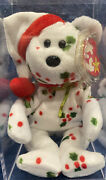 Vintage Ty Original 1998 Holiday Teddy Beanie Baby Retired With Errors Pe