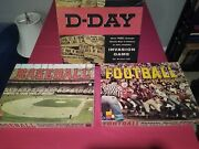 Lot Of 3 Vintage Avalon Hill Board Games Baseball Football D-day Invasion Ww2 Ii
