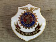 The Salvation Army Blood And Fire Enamel Pin