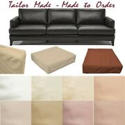 Tailor Madecover Onlyfaux Leather Skin Box Square Sofa Seat Bench Cushion Pb1