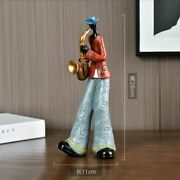Music Band Resin Figurines Jazz Orchestra Statues Saxophone Piano Bar Home Decor