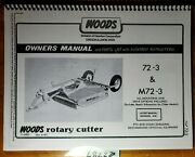 Woods Cadet 72 72-3 M72-3 Mower Owner's Operator's And Parts Manual F-6085 8/82