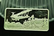 1977 Franklin Mint Barnstormers Tour Of The Country Sterling Silver Bar / Ingot