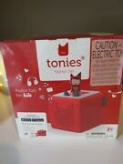 Toniebox Story Telling Audio Player Starter Set Red Screen-free New Sealed