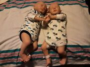 Reborn Baby Dolls Pre Owned Conjoined Twin Boys