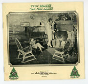 Wd4 Vintage 1950's. True Temper Sno Shu Chairs Brochure 12 Pgs 797a