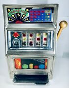 Vintage Toy Waco Casino King Toy Slot Machine Bank 25 Cent Coin Op - Japan