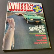 Vintage Sep 1977 'wheels Magazine' Motor Car Ford's New Cars Special Escort