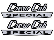 1967-69 F250 Crew Cab Special Decals Cowl Side Lh-rh Pair F350 Truck Ford New
