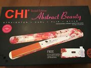 Chi Limited Edition Abstract Beauty Ceramic Hairstyling Flat Iron - New In Box