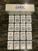 1988 - 2006 Ngc Ms69 First Strike Red Label Very Rare Complete 16 Coin Set