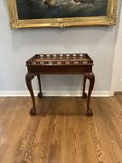 Councill Craftsmen Ball And Claw Chippendale Mahogany China Tea Table Exc.