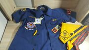 Bsa Cub Scout Blue Uniform Shirt Size Youth Med Made In Usa 65poly/35cotton