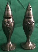 Vintage Silver Plated Salt And Pepper Shakers Made In Occupied Japan 4andrdquo